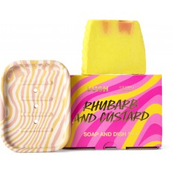 Rhubarb And Custard Soap And Dish Set